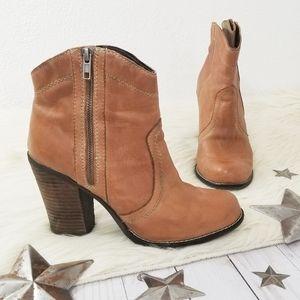 Kelsi Dagger Hanley ankle boots cognac brown heel